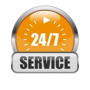 24/7 Service button